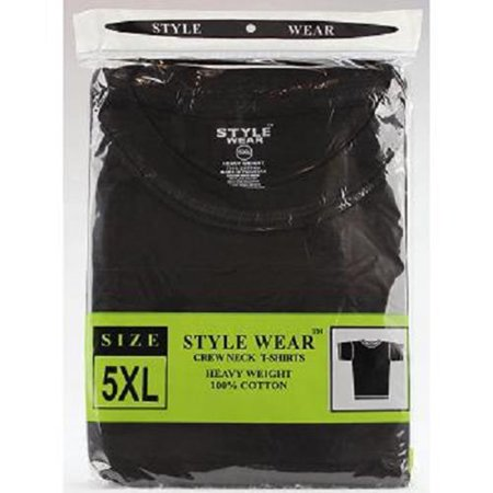Blk Neck - Style Wear T-Shirt - Round Neck Blk 5Xl - 1 count only