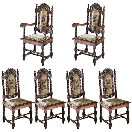 Design Toscano Chairs Two Armchairs Four Side Chairs