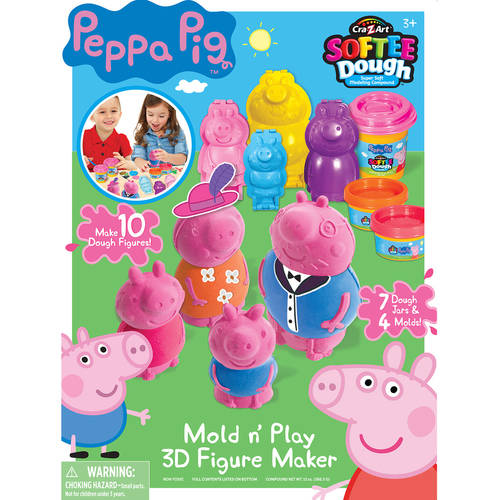 Cra-Z-Art Peppa Pig Mold N Play 3D Figure Maker by CRA-A-ART