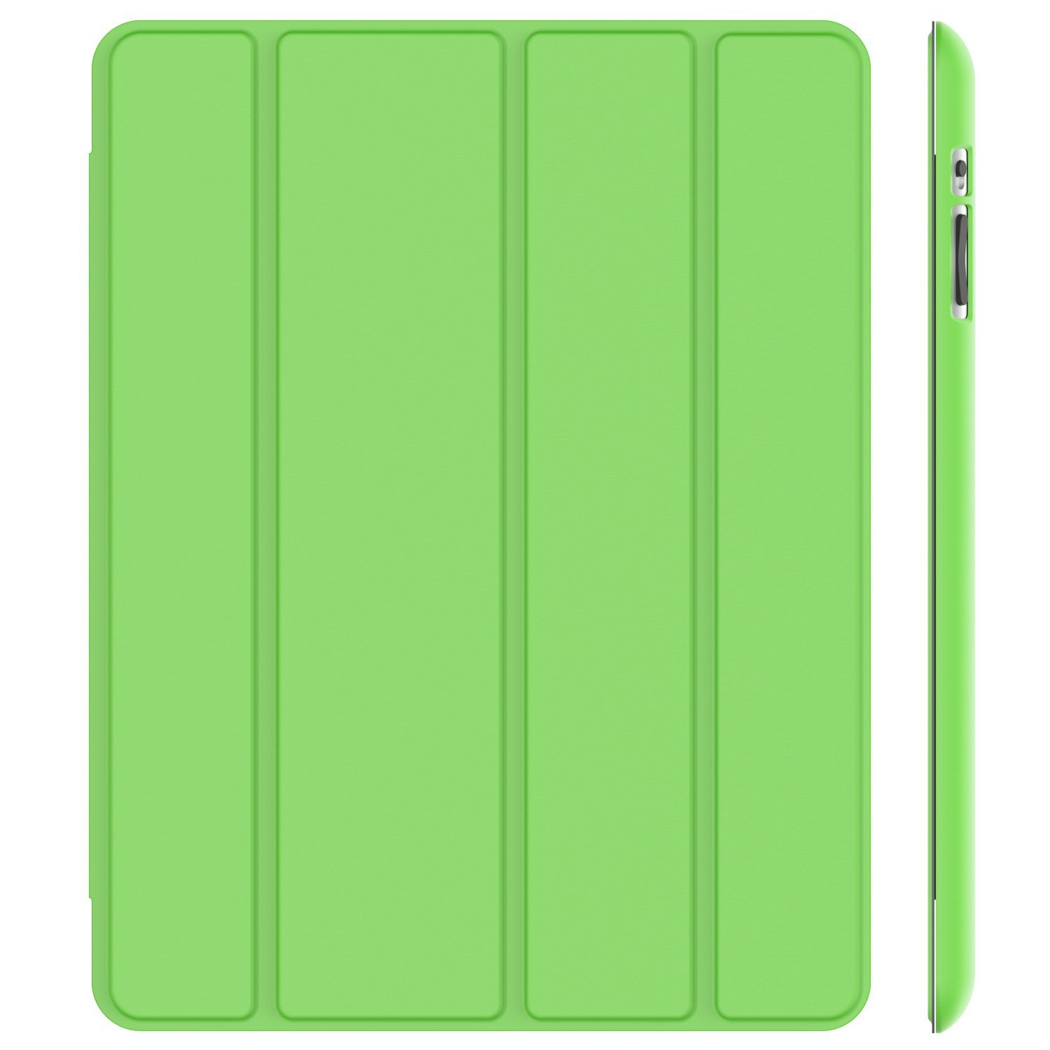 SuprJETech® Gold Slim-Fit Folio Smart Case Cover with Back Case for Apple the New iPad 4 & 3 (3rd and 4th Generation with Retina Display) / iPad 2 (Green)