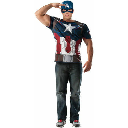 Avengers Captain America T-Shirt Mens Adult Dress Up / Role Play ...