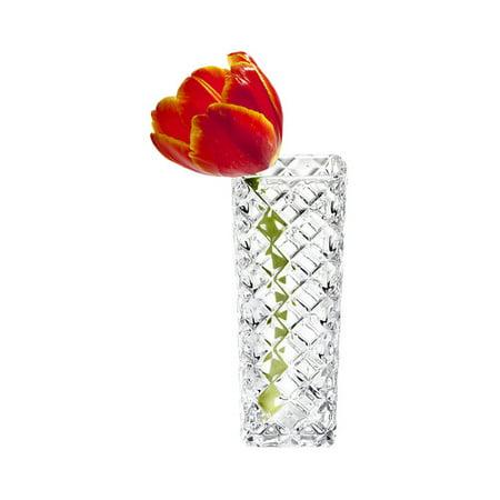 Studio Silversmiths Criss Cross Crystal Bud Vase