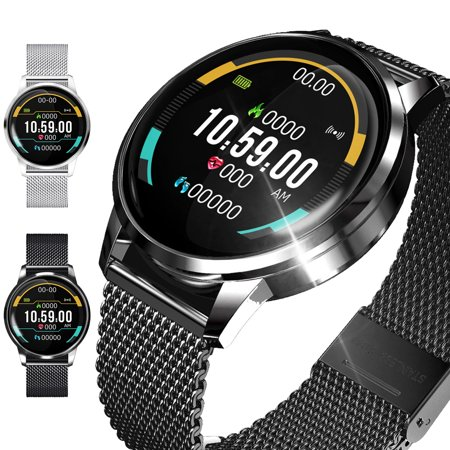Smart Watch Fit for iOS Android, IP67 Waterproof Fitness Watch Activity Tracker with Heart Rate Monitor Blood Pressure Monitor, Wearable...