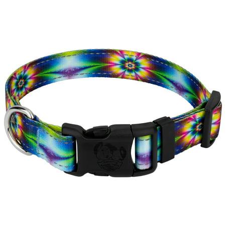 Tie Down Breast Collar (Country Brook Petz | Deluxe Tie Dye Flowers Reflective Dog Collar )