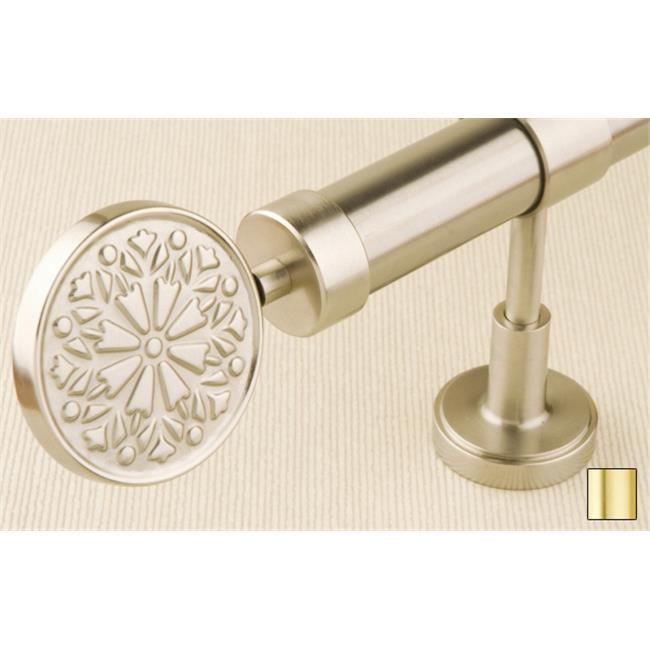 WinarT USA 8. 1136. 30. 03. 280 Liber 1136 Curtain Rod Set - 1. 25 inch - Matte Brass - 110 inch