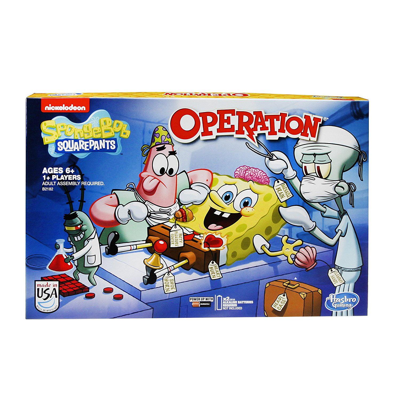 SpongeBob SquarePants Operation Game, Pixars SquarePants Creature Or Nintendo Corduroy Go... by