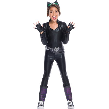Girls Catwoman Deluxe Costume - Batman And Catwoman Halloween Costumes