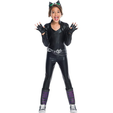 Girls Catwoman Deluxe Costume - Halloween Express Catwoman