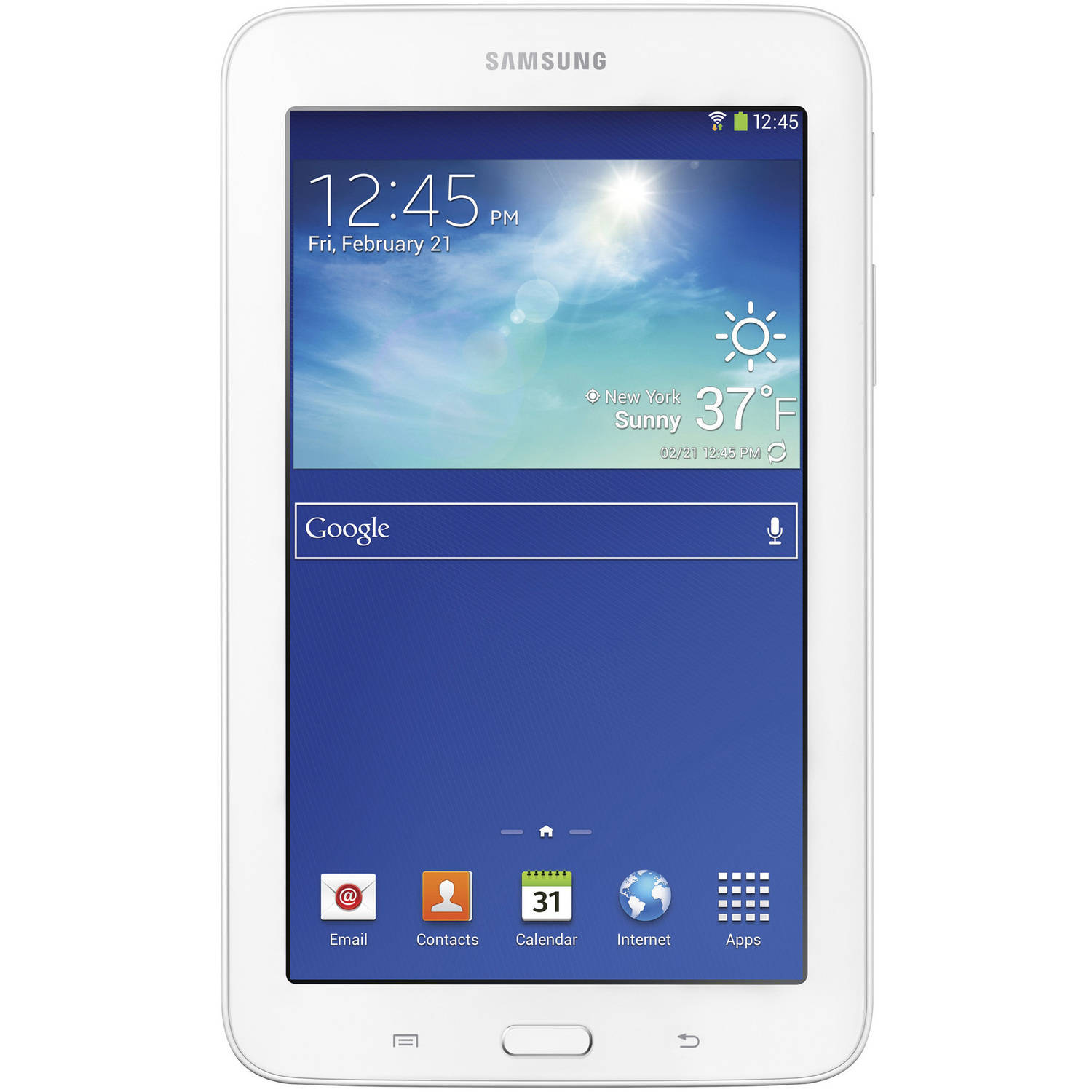 "Refurbished Samsung Galaxy Tab 3 Lite with WiFi 7.0"" Touchscreen Tablet PC Featuring Android 4.2 (Jelly Bean) Operating System, White"