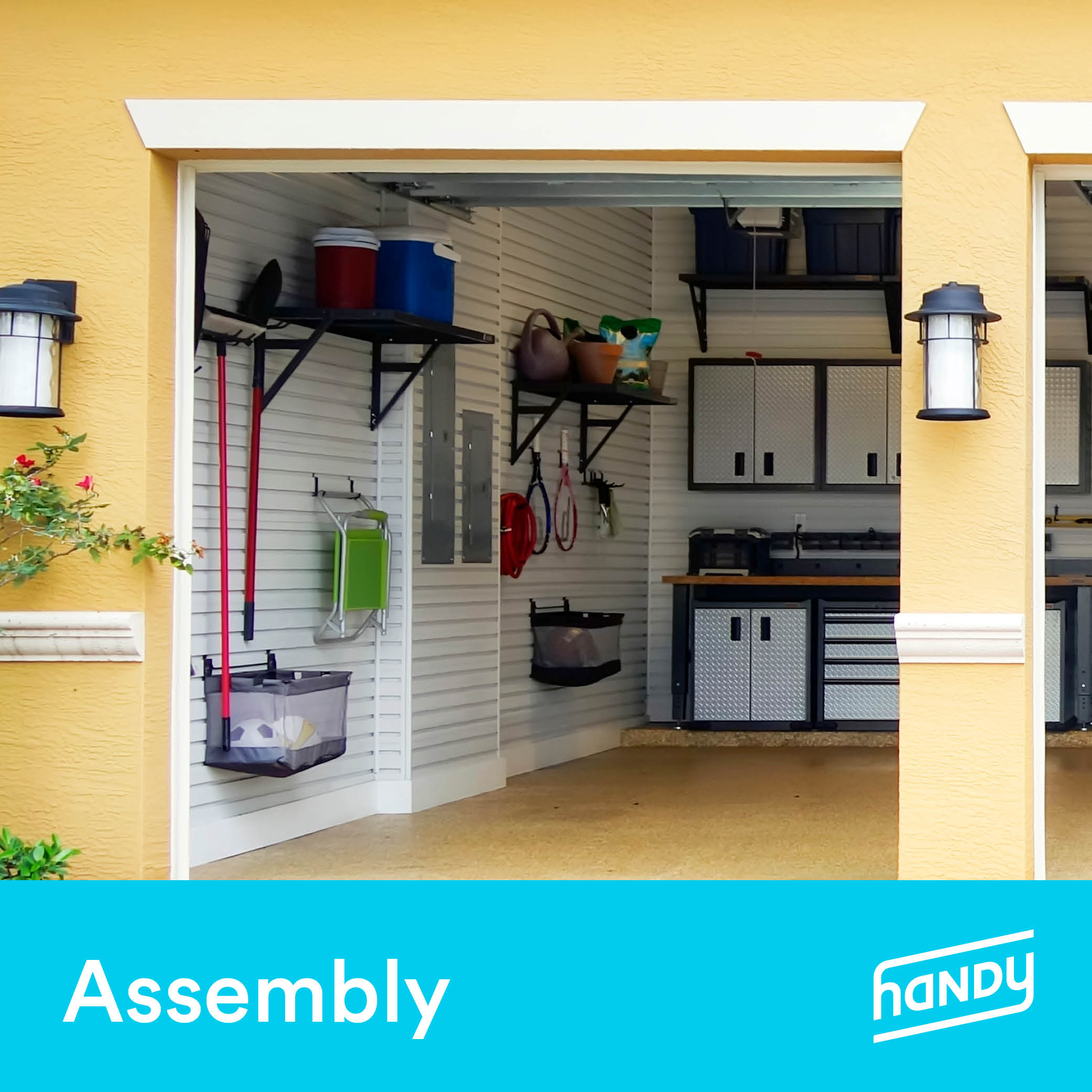 Garage Shelves and Racks Assembly by Handy