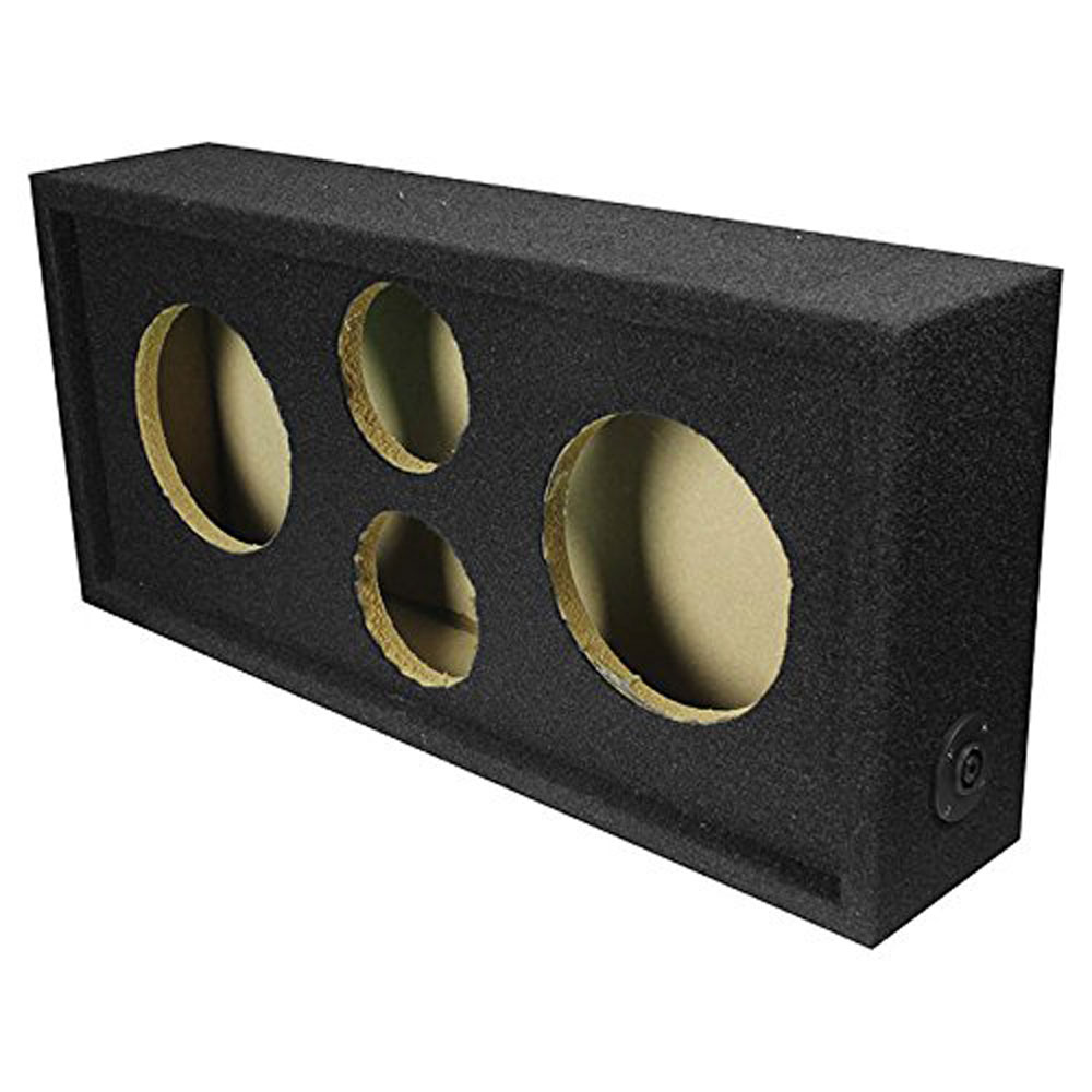 "Q Power Car Audio Subwoofer Enclosure Box Chuchero for 6.5"" Mids and 3"" Tweeters"