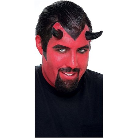 Black Demon Horns Adult Halloween Accessory - Halloween Horns Uk