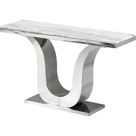 Marble Top & Stainless Steel Base Console Table