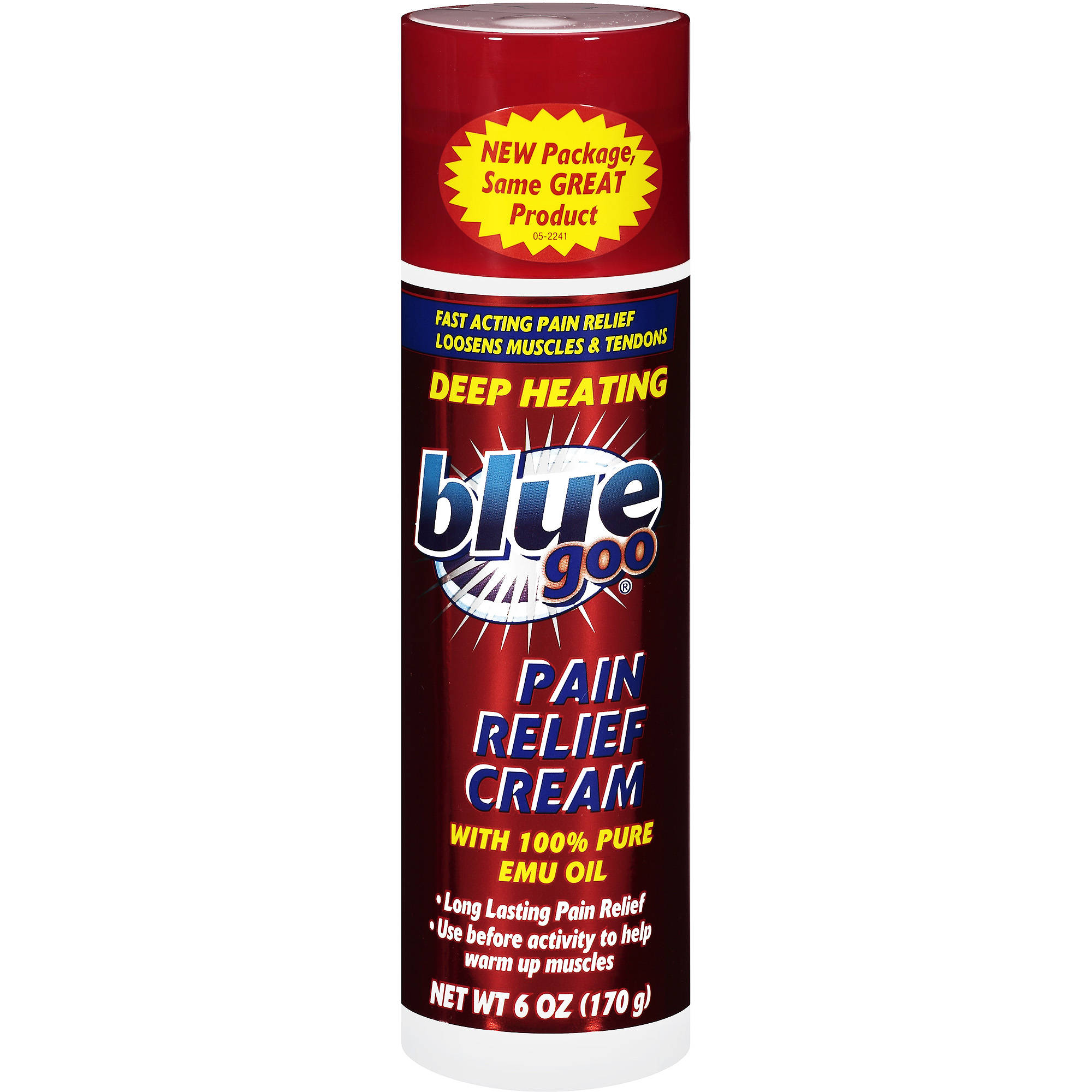 Blue Goo Pain Relief Deep Heating Cream, 6 oz