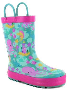 Western Chief Girls' Sea Stars Rain Boot