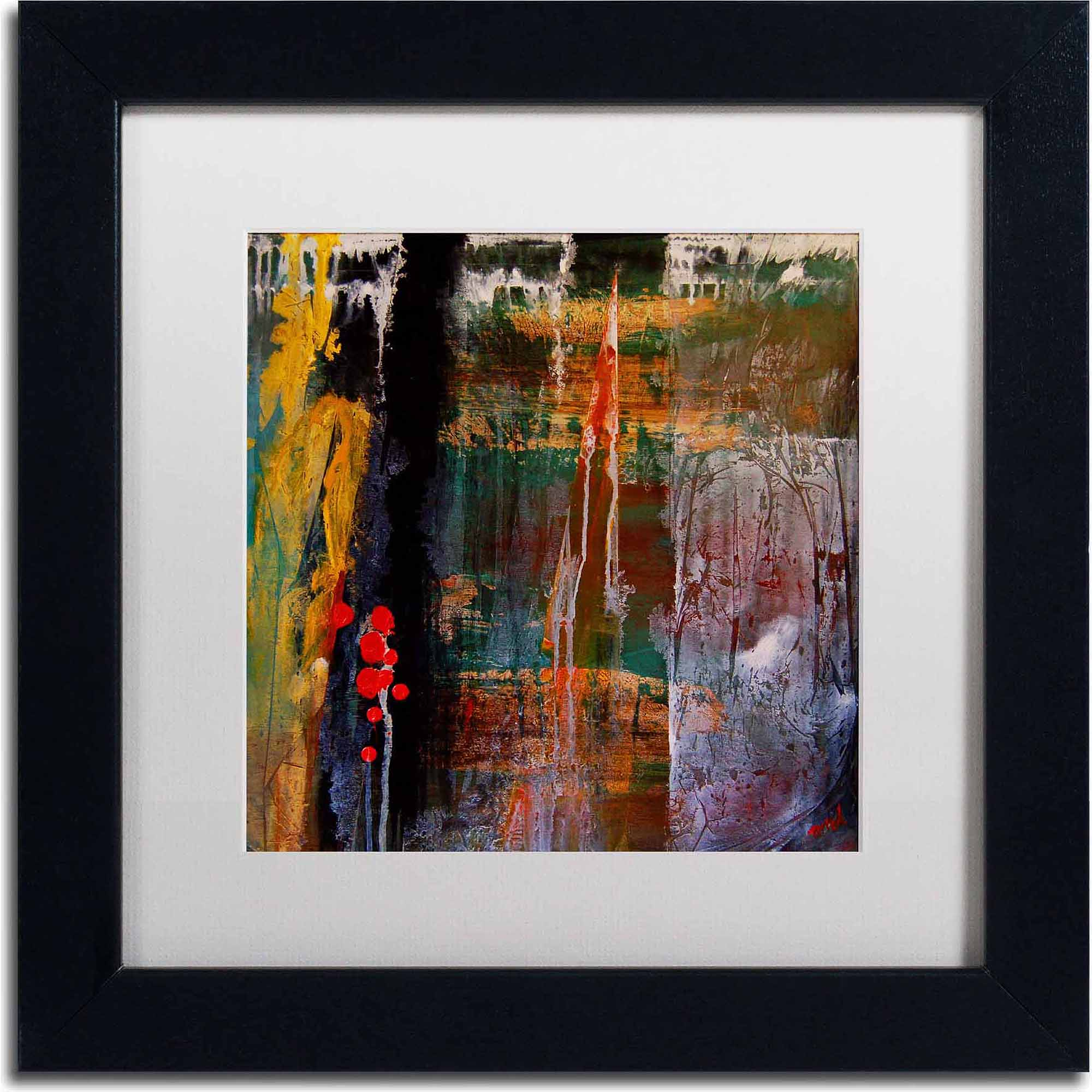 "Trademark Fine Art ""Entitled"" Canvas Art by Nicole Dietz, White Matte, Black Frame, Archival Paper"