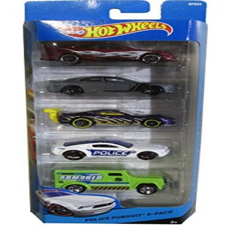 Hot Wheels 2017 Hw City Police Pursuit 5 Pack 4 Cars And An Armored Truck