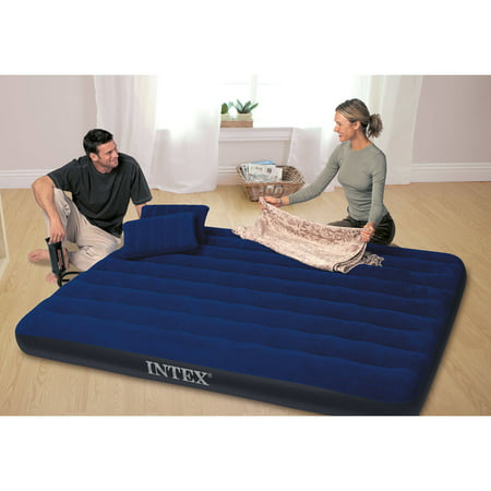 "Intex Queen 8.75"" Classic Downy Airbed Mattress with Combo Pump"