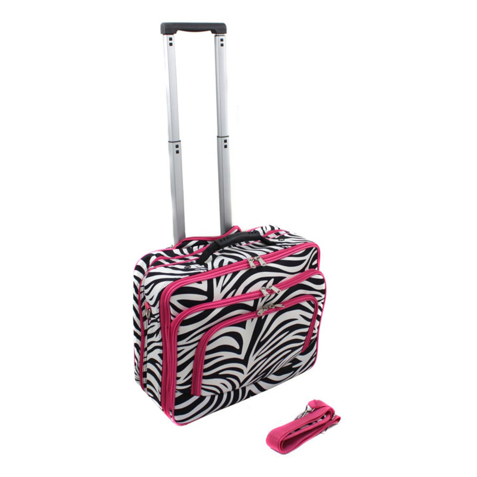 World Traveler Zebra Rolling 17 in. Laptop Case