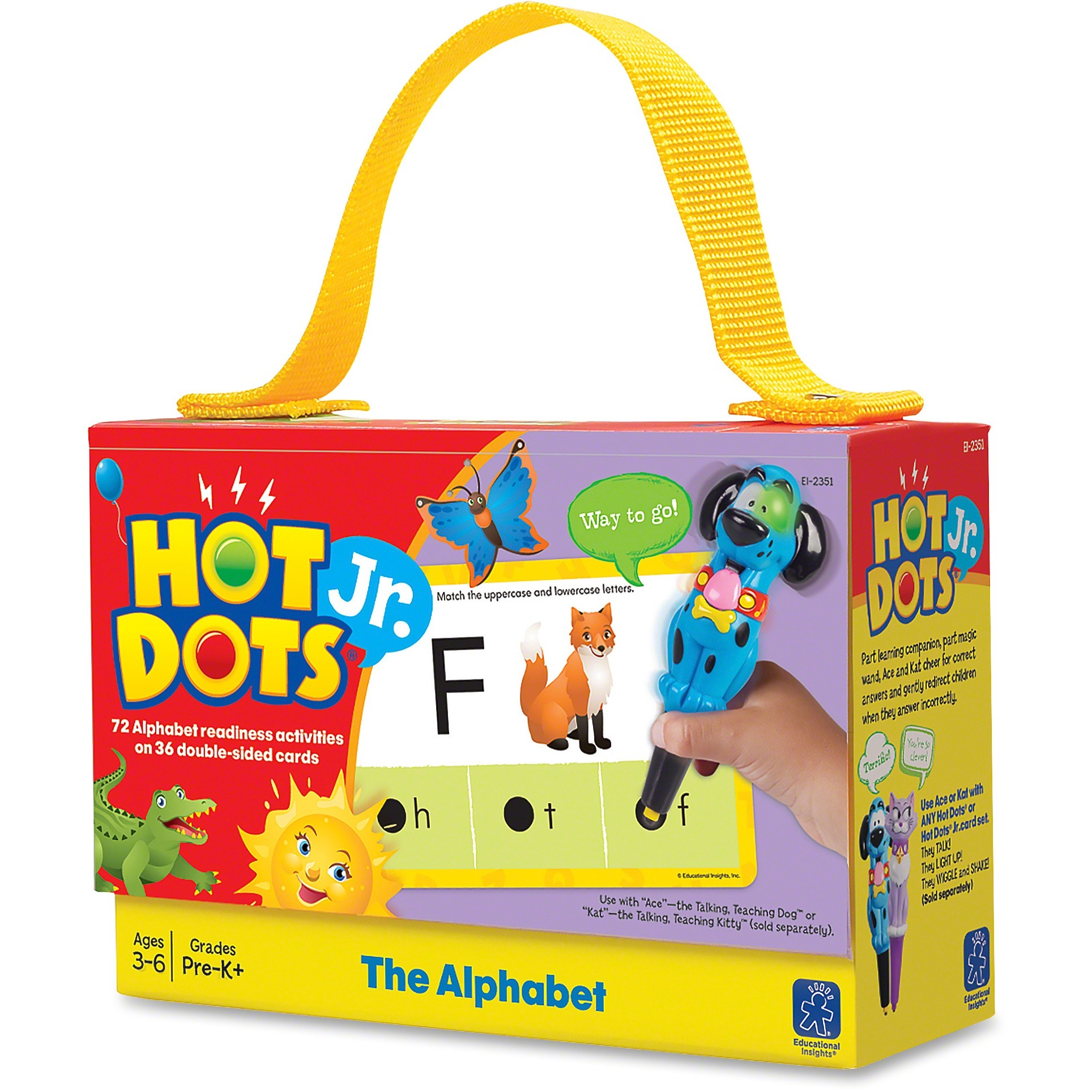 Hot Dots, EII2351, Jr. Alphabet Card Set, 36, Multi