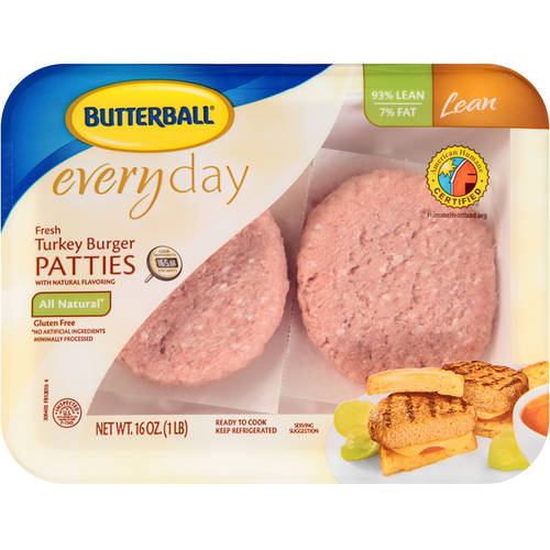 Butterball  Everyday Fresh 93% Lean Turkey Burger Patties 1.0 lbs.
