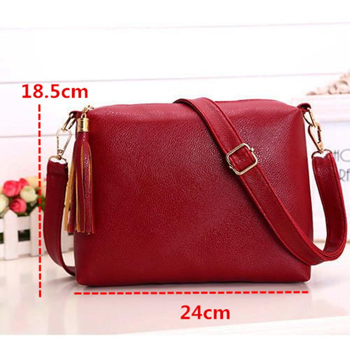 Women Shoulder Bag Handbags PU Leather Crossbody Purse Tote Satchel Fashion Gift
