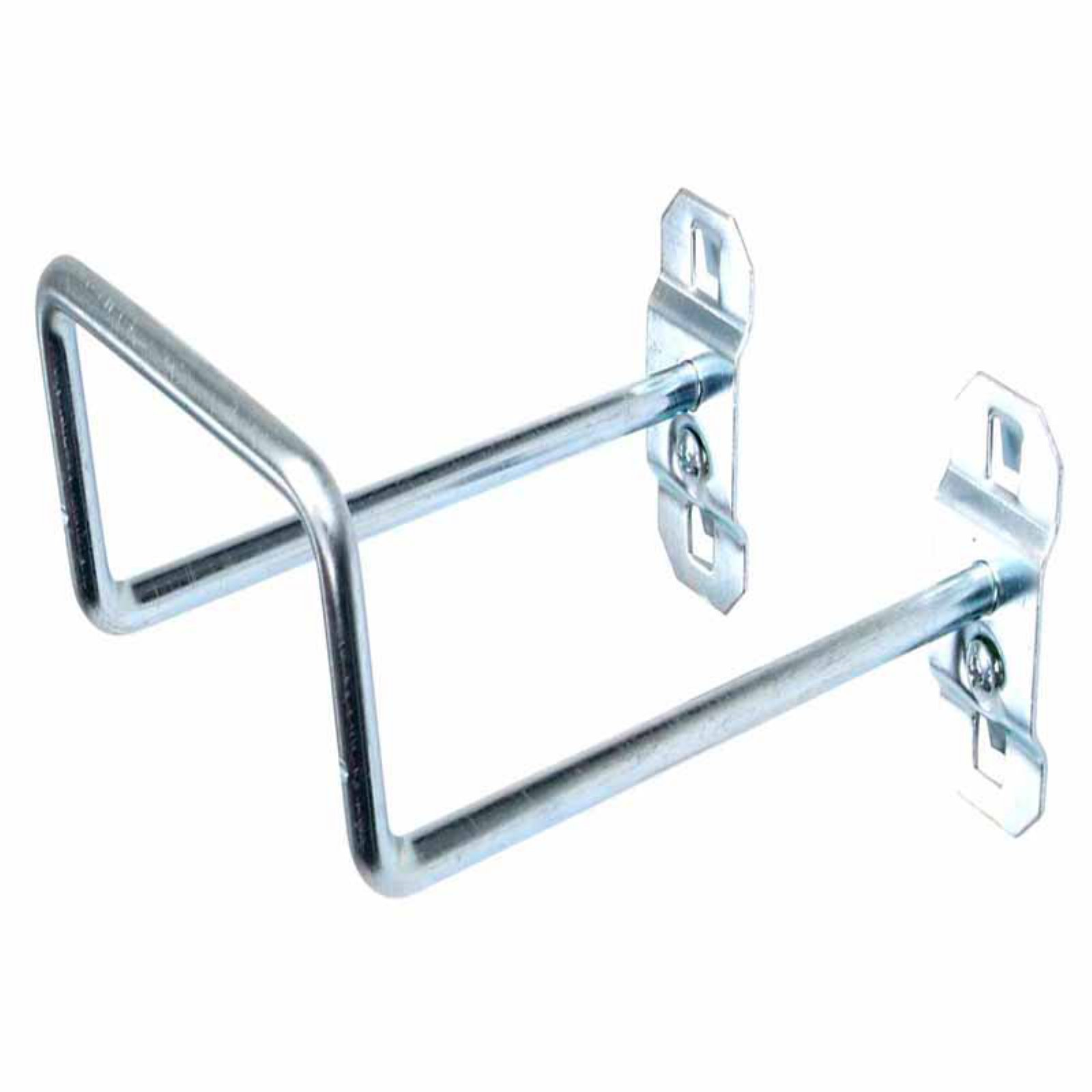 "LocHook 5"" 80-Degree Bend 2-3/4""ID Zinc Plated Steel Double Closed End Loop Pegboard Hook for LocBoard, 5pk"