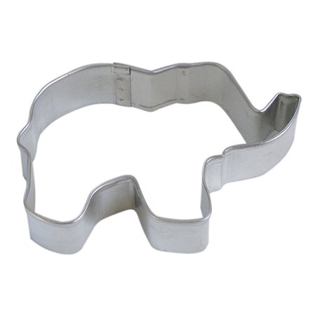 CybrTrayd R&M Elephant Tinplated Steel Cookie Cutter, 3.5-Inch, Silver, Bulk Lot of 12