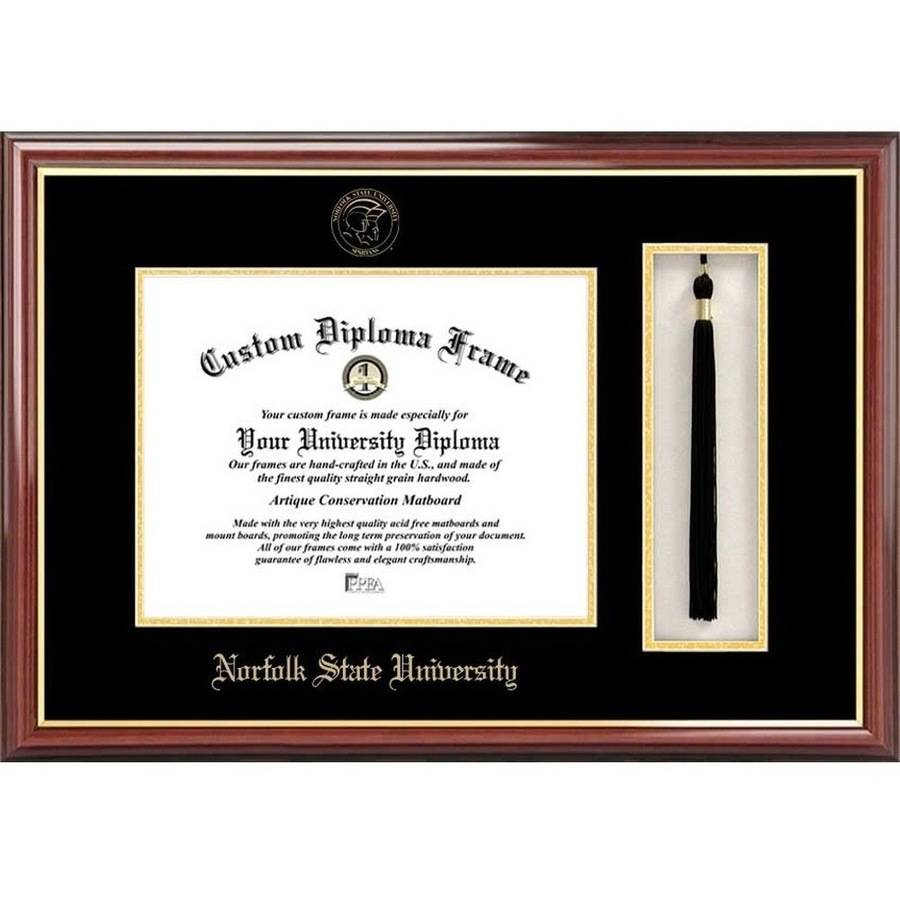 "Norfolk State 8.5"" x 11"" Tassel Box and Diploma Frame"