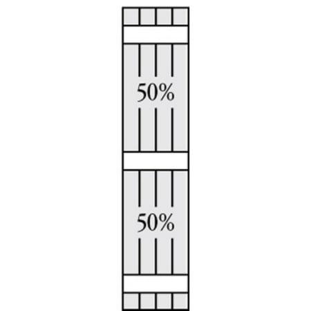 Perfect Shutters 6 875W in Closed Board N Batten Arch Top Vinyl Shutte