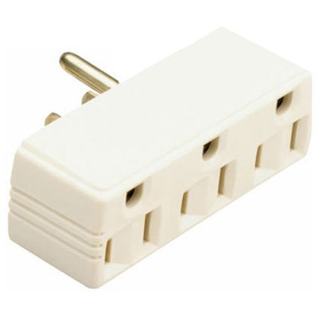 Single Pole Plug (Legrand-Pass & Seymour Plug in One to Three Outlet Adaptor Single Pole, Ivory )