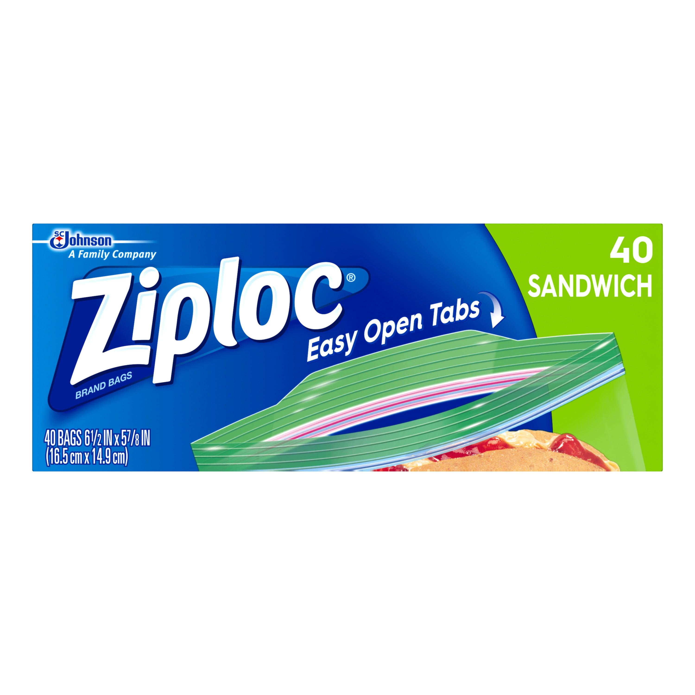 Ziploc Sandwich Bags 40 count