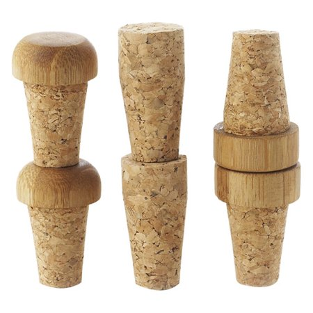 axis sourcing group inc 4 piece replacement cork bottle