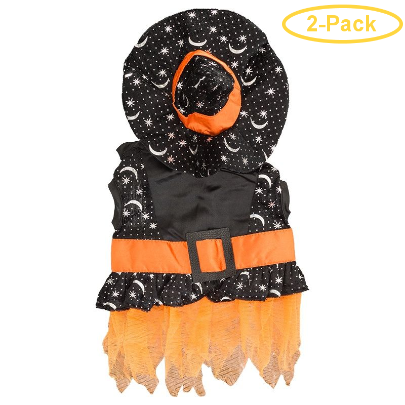 Lookin' Good Witch Dog Costume X-Small - (Fits 8-10 Neck to Tail) - Pack of 2
