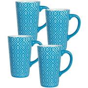 Pfaltzgraff Studio Set of 4 Mugs, Sky Blue