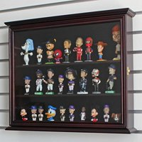 Display Case Cabinet Holder Wall Rack for MINI/SMALL Bobblehead Wobbler Funko Figurine with glass door, CD-SC04-MA