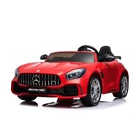 KIDS VIP Complete Edition 2 Seats 2X12V Mercedes Benz GT Kids Ride on Powered Battery Remote Control Toy Car, Leather Seat, Eva Wheels, Remote Control