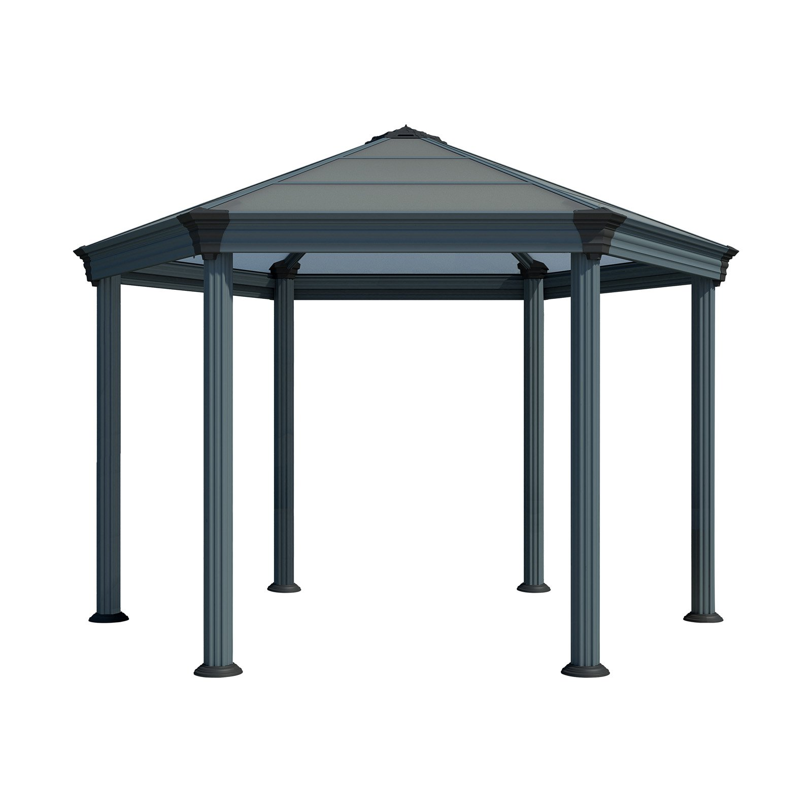 Palram Roma Hexagon Gazebo, Gray/Bronze