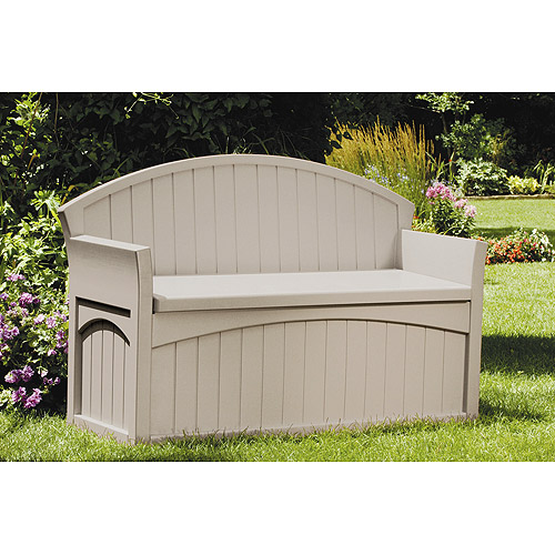 Suncast 50 Gallon Patio Bench by Outdoor Benches