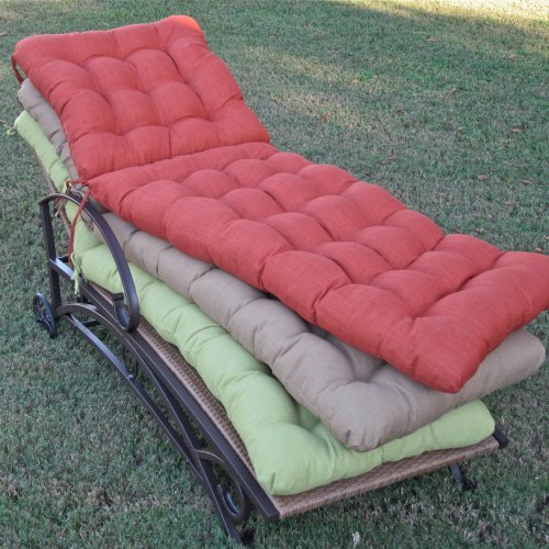 Blazing Needles 72L x 22W Outdoor Chaise Lounge Cushion