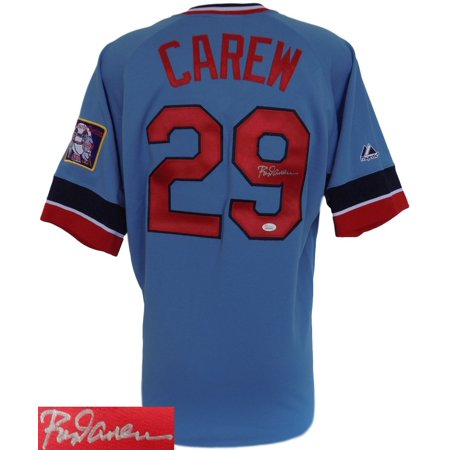 Rod Carew Signed Minnesota Twins Cooperstown Collection Jersey w  Patch JSA by