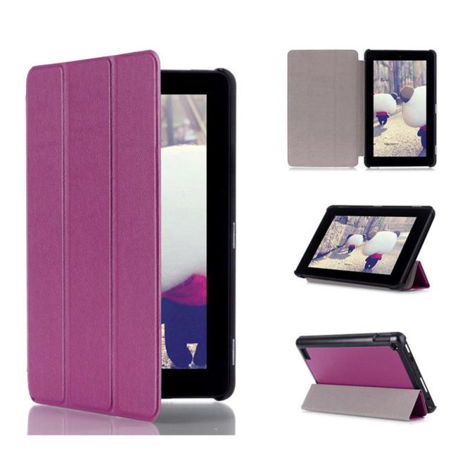 DZT1968® Tri-Fold Leather Stand Case Cover for Amazon Kindle Fire 7inch 2015