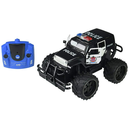 Jeep Wrangler Police Unit 1 14 Scale Battery Operated Remote