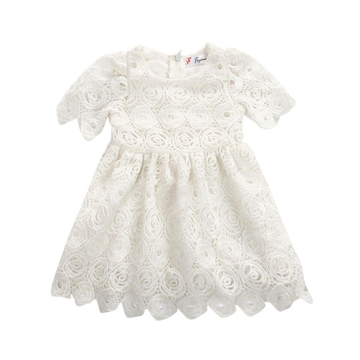 0-24M Girl Infant Short Sleeve Tutu Dress Clothes Party Jumpsuit Princess Dress