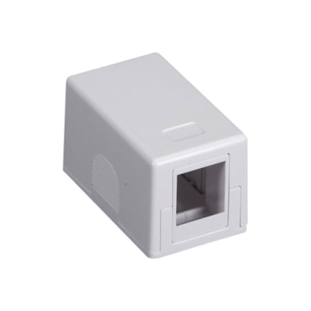 1PORT WHITE SURFACE MOUNT HOUSING VALUE LINE