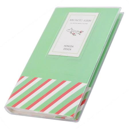 Memo Case - Outside Tour Memories PVC Stripes Pattern Photo Picture Card Memos Case Album