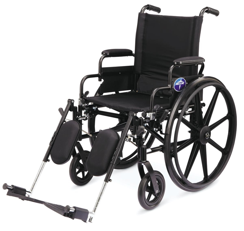 "K4 Lightweight Wheelchair - 18"" x 16"", Full Arms, Legrests - 1 Each / Each"