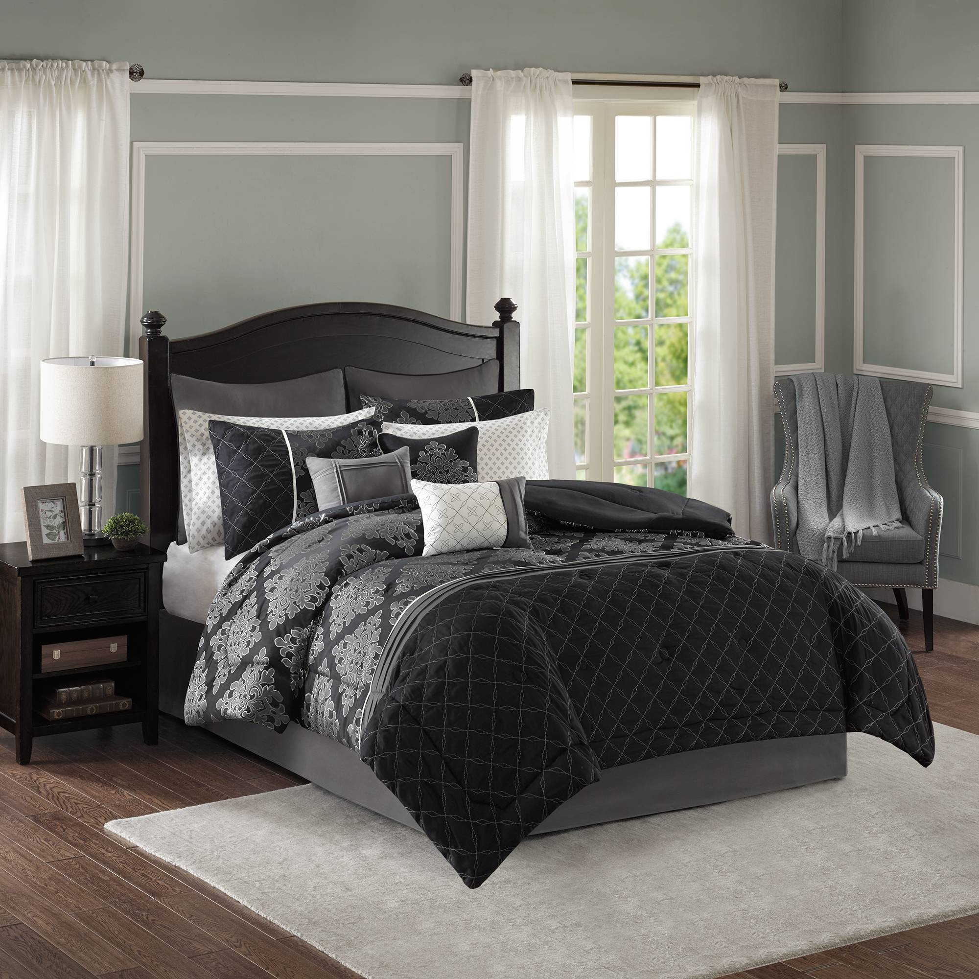 Better Homes and Gardens 11 Piece Jacquard Comforter Set
