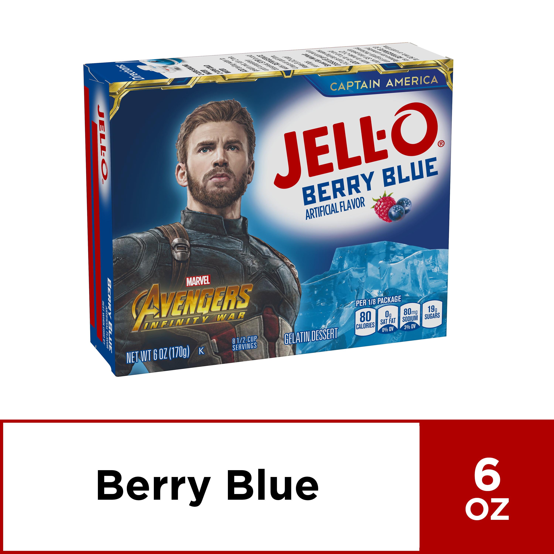 (3 Pack) Jell-O Berry Blue Instant Powdered Gelatin Dessert, 6 oz Box