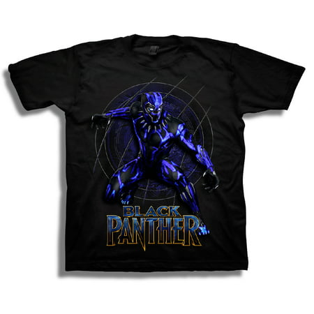 Black Panther Boys' Super Hero Action Pose Short Sleeve Graphic T-Shirt - Boy Super Hero